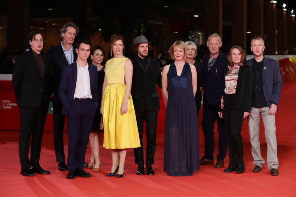 ROME, ITALY - OCTOBER 29: Cast of the movie walk a red carpet for 'In Blue' during the 12th Rome Film Fest at Auditorium Parco Della Musica on October 29, 2017 in Rome, Italy.  (Photo by Vittorio Zunino Celotto/Getty Images) *** Local Caption *** Jaap van Heusden;Maria Kraakman;Bogdan Iancu;Marc Bary